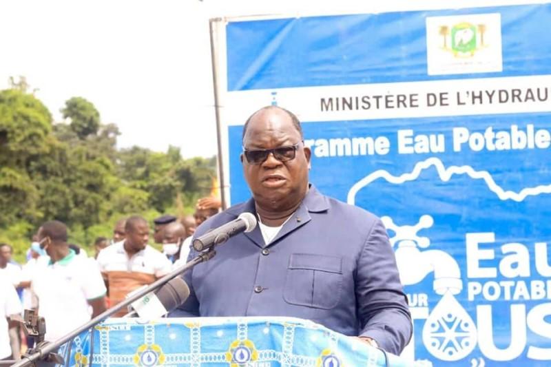 Le ministre de l'Hydraulique, Laurent Bogui Tchagba (DR)