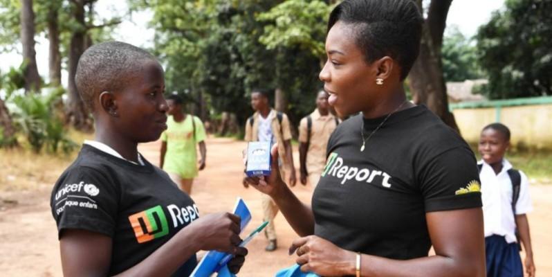 La sprinteuse ivoirienne Murielle Ahouré (à droite) fait ambassadrice de l'Unicef. (DR)