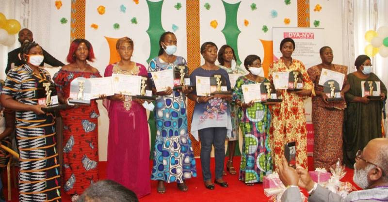 Des femmes battantes de la région de Gbêkê récompensées. (DR)