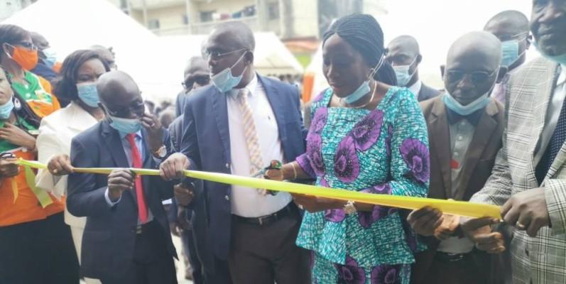 Le Centre médical des Enseignants a été inauguré par la ministre de l'Education nationale, de l'Enseignement technique et de la Formation professionnelle, Kandia Camara.  DR
