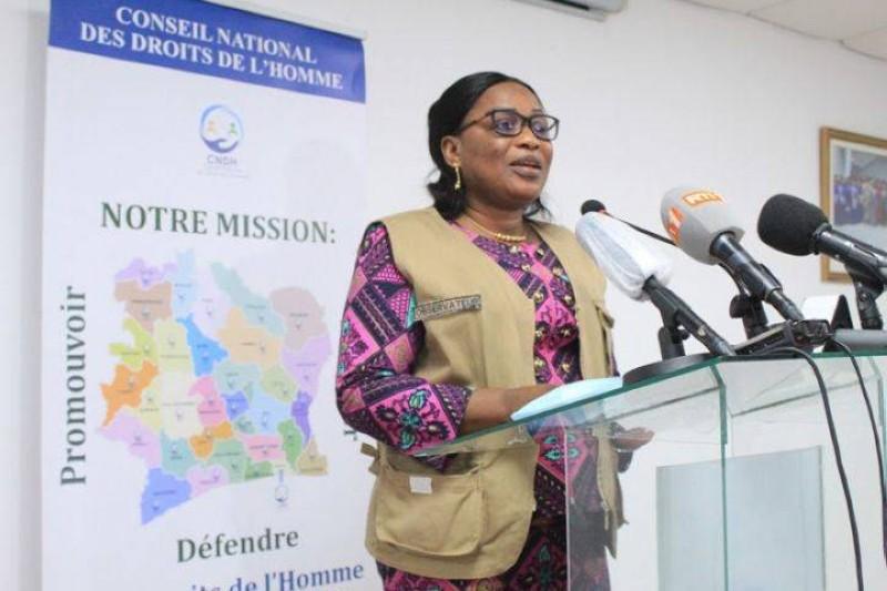 La presidente Namizata Sangaré