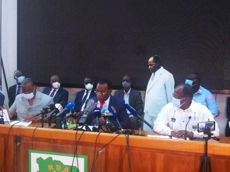 Conférence de presse de Pascal Affi N'Guessan