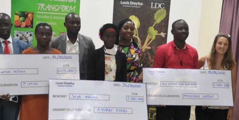 Les lauréats de la deuxième édition du grand Prix Louis Dreyfus. (DR)