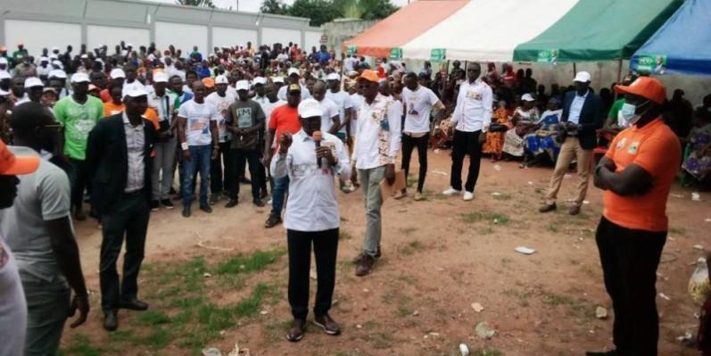 Bictogo mobilise à Agboville pour la victoire du candidat Alassane Ouattara. (Dr)