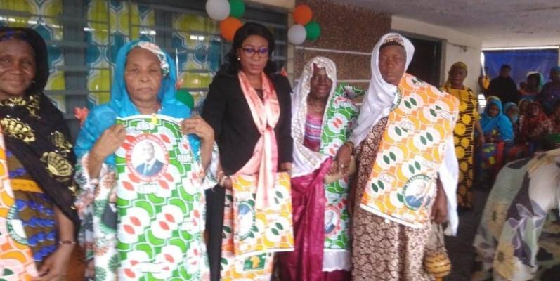 M'Bahia Maférima Bamba est allée galvaniser les militants d'Abobo Banco. (Dr)