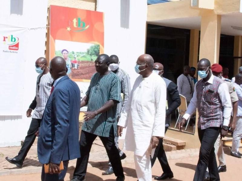 Le président Kaboré à son arrivé à la radio