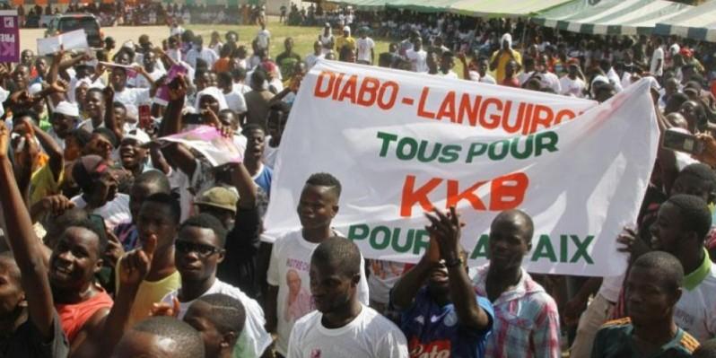 Le candidat KKB a été accueilli par une foule de jeunes. (Dr)