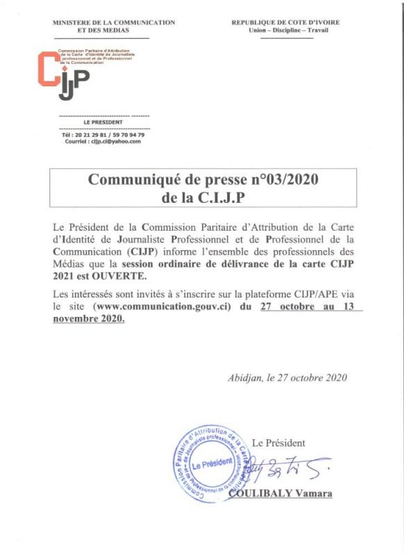 Communiqué de Presse N° 3-2020 (Ouverture de la session ordinaire 2021).docx