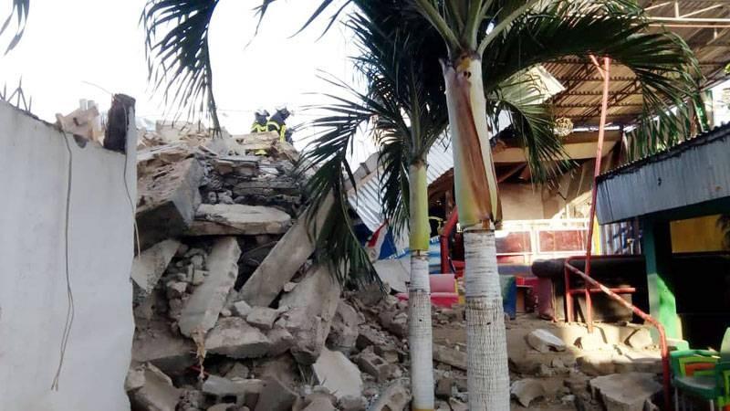 Les décombres de l'immeuble. (GSPM)