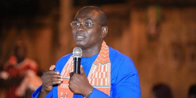 Le ministre Félix Anoblé, directeur de campagne du candidat Alassane Ouattara dans la région de San Pedro. (Dr)