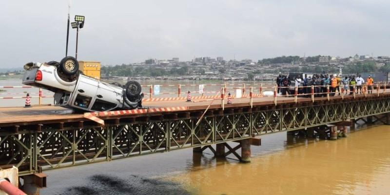 Le véhicule a été extrait de l'eau. (Gspm)