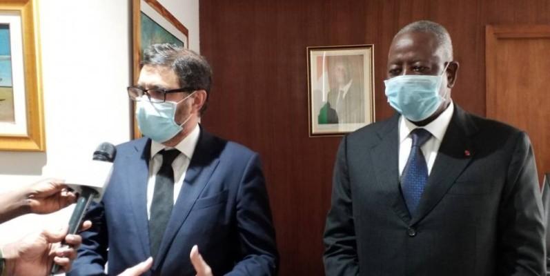 L'ambassadeur d'Espagne en Côte d'Ivoire et le Médiateur de la République ont échangé sur la présidentielle et leurs relations. (Dr)