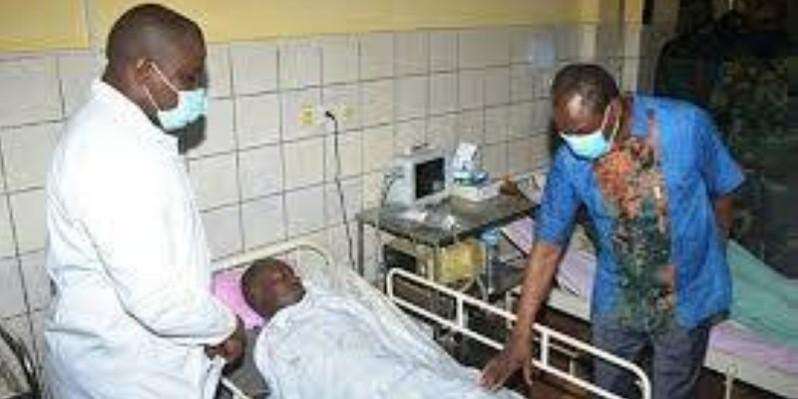 Le Président élu s'imprégnant de l'état de santé des victimes des soulèvements populaires, d'avant, pendant et après le scrutin. (Dr)