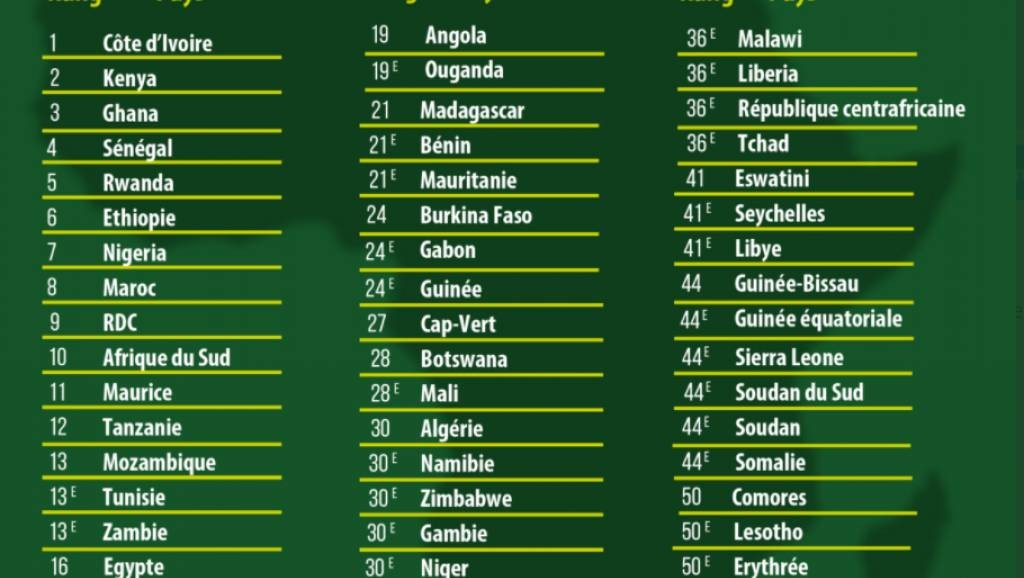 Classement des pays africains les plus attractifs. (Dr)