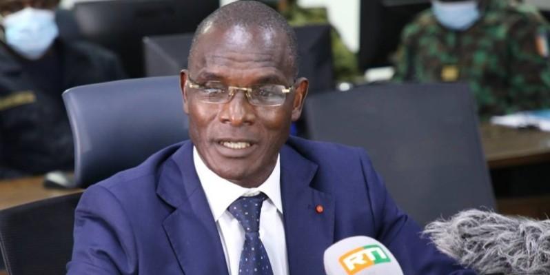 Le ministre de la Sécurité et de la Protection civile, Vagondo Diomandé. (Photo : Poro Dagnogo)