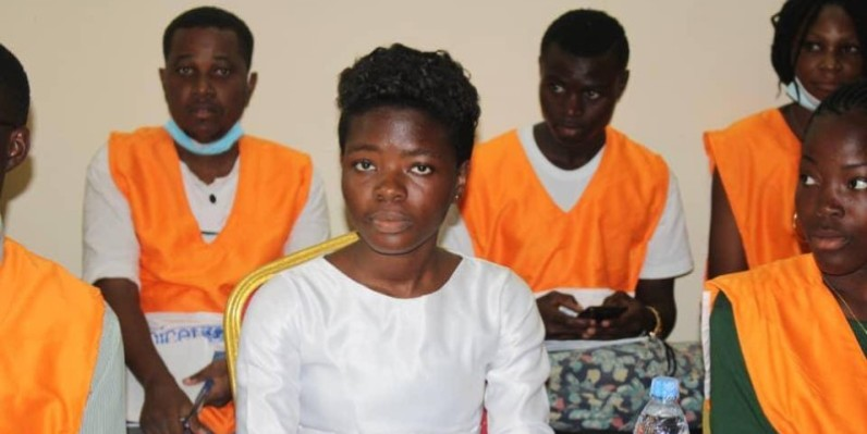 Inès Gouannou a souhaité un scrutin apaisé à la Côte d'Ivoire pour le bonheur des enfants (DR)
