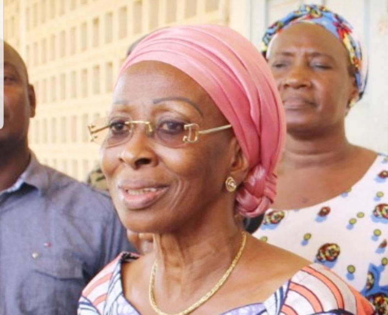 La ministre de la Femme, de la Famille et de l'Enfant, Pr Bakayoko-Ly Ramata, a voté à Dimbokro. (Photo: Sercom)