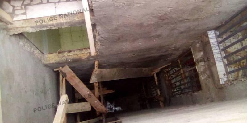 L'échafaudage d'un immeuble R 4 s'est effondré. (Dgpn)