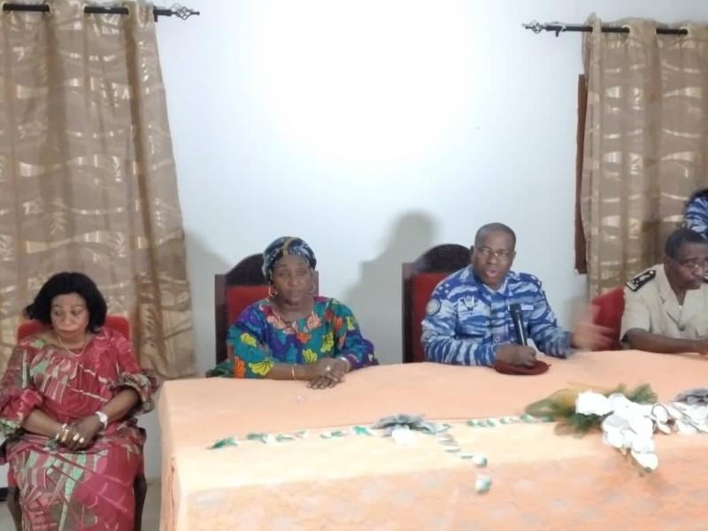 Le général Apalo Touré lors de la rencontre de Toumodi (DR)