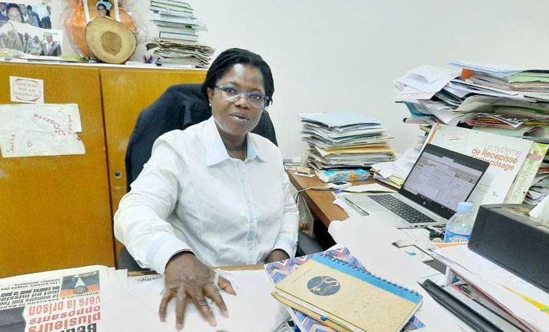 Germaine Boni, rédactrice en chef de Fraternité Matin, compte sur l'ensemble des membres de la rédaction pour l'accompagner dans sa mission. (Dr)