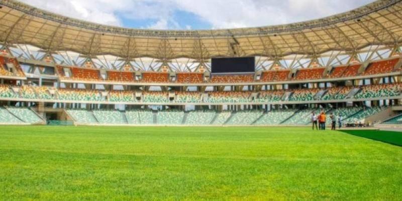 Le stade Olympique d'Ebimpé recevra sa première rencontre internationale, jeudi. (Dr)