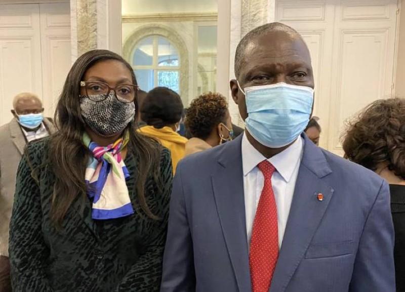 L'ambassadeur de la Côte d'Ivoire en France, Maurice Bandaman. (Dr)