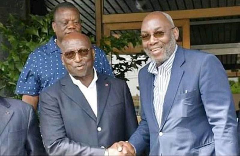 Jacques Anouma (à gauche) et Sidy Diallo (à droite) au sortir d'une rencontre. (Dr)