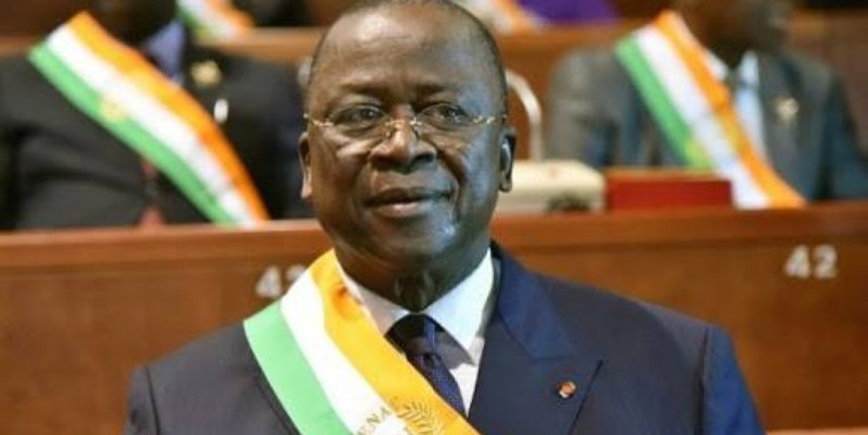 Jeannot Ahoussou-Kouadio, président du Sénat. (DR)