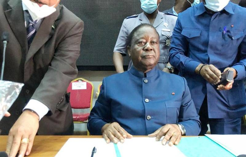 Henri Konan Bédié, président du Pdci-Rda. (Dr)