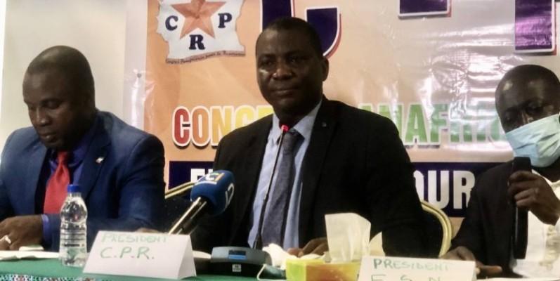 Le président du Cpr, Doumbia Major (au centre), a salué le Président Ouattara pour sa victoire à l'élection présidentielle. (Dr)