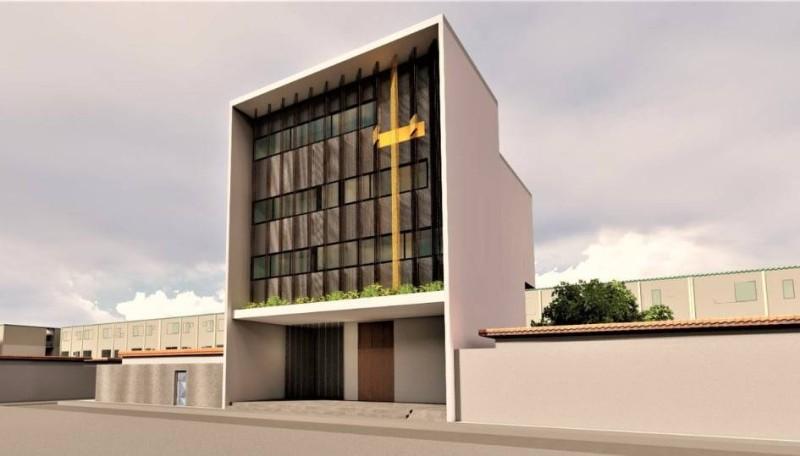 La maquette du temple qui sera bâti par l'Eglise de la Riviéra-Anono. (Dr)