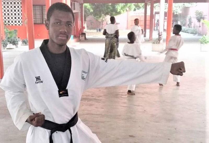 Hamza Gbané, la Taekwondo-in Pharmacien n'a pas l'intention d'abandonner le tatami. (DR)