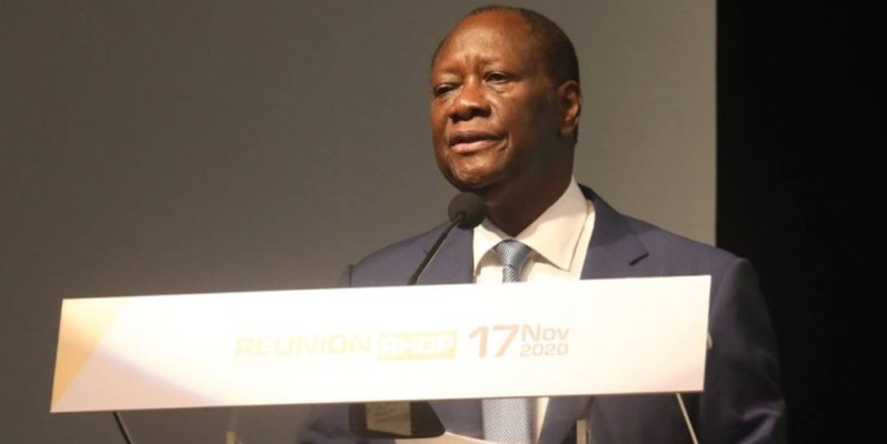 Le Chef de l'État, Alassane Ouattara. (Dr)