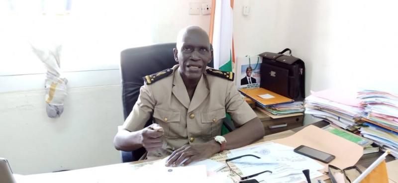 Le préfet du département de Blolequin, Sidiki Coulibaly. (Dr)