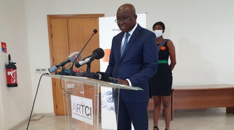 Bilé Diéméléou, directeur général de l'Autorité de régulation des télécommunications de Côte d'Ivoire (Artci). (Dr)