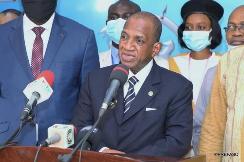 Kabine Komara, chef de la délégation de la Mission d'observation des élections de la Cedeao. (présidence du Faso)