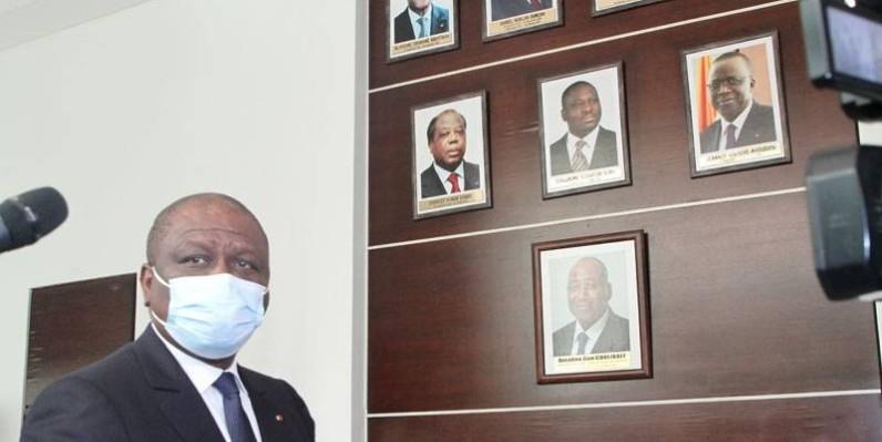 Portrait de l'ex-Premier ministre Amadou Gon Coulibaly. (DR)