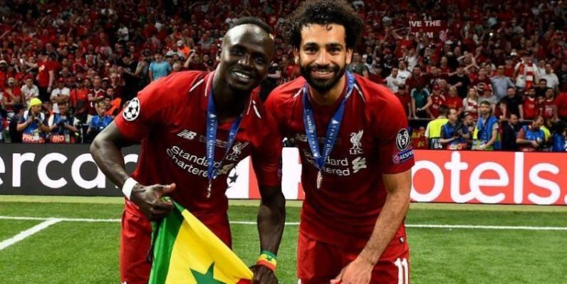 Sadio Mané et Mohamed Salah, tous deux joueurs de Liverpool. (DR)