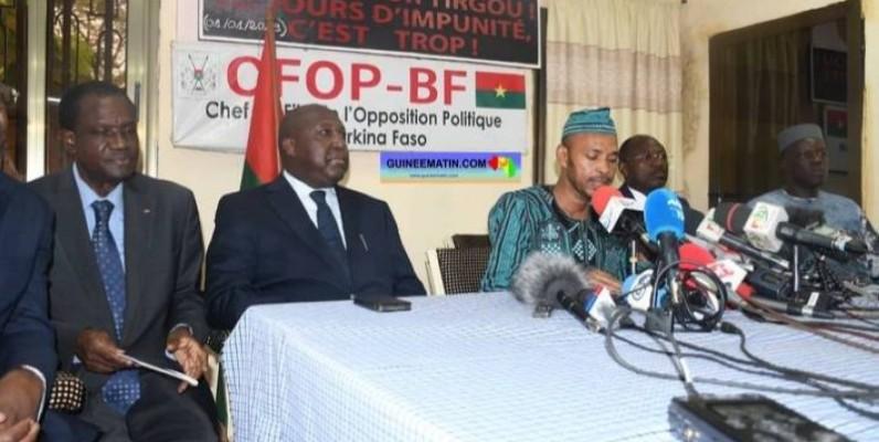 L'opposition burkinabè unie au sein de la Conférence des candidats signataires de l'Accord Politique de Ouagadougou, lors de sa déclaration le 26 novembre. (Dr)
