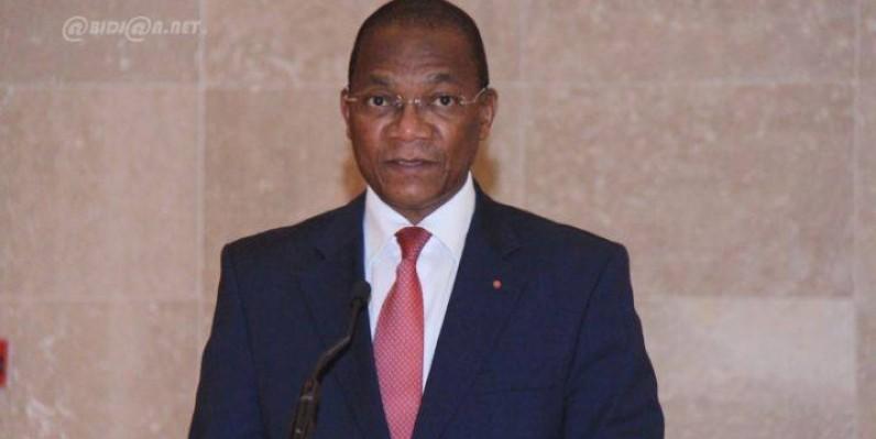 Le ministre de la Construction, du Logement et de l'Urbanisme, Bruno Nabagné Koné. (Dr)
