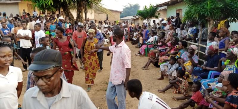 Une vue des réfugiés ivoiriens à Zodrou (Liberia). (Photos : Saint-Tra Bi)