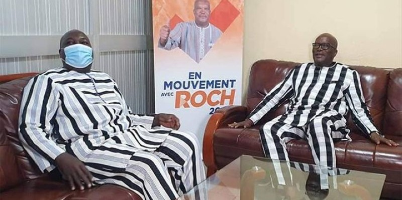 Zéphirin Diabré est allé féliciter le Président réélu Roch Kaboré le vendredi 27 novembre 2020. (DR)