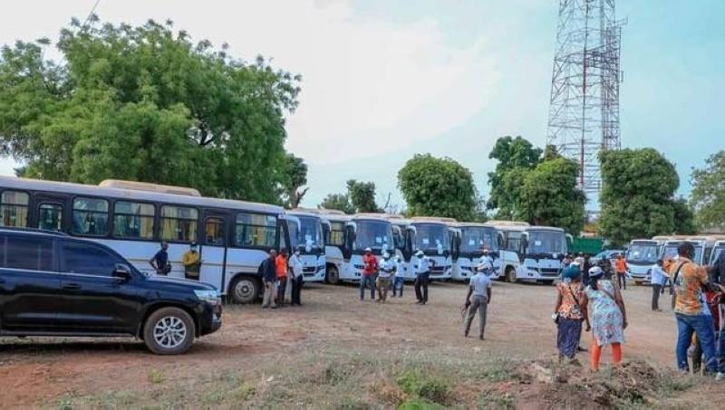 12 véhicules pour renouveler le parc auto de la région de la Bagoué (DR)