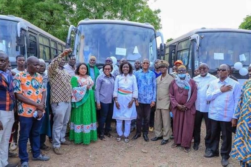 Les transporteurs de la région de la Bagoué ont rendu un vibrant hommage au Chef de l'Etat (DR)