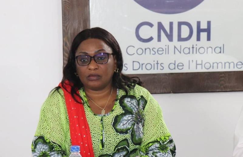 La présidente du CNDH, Mme Namizata SANGARE