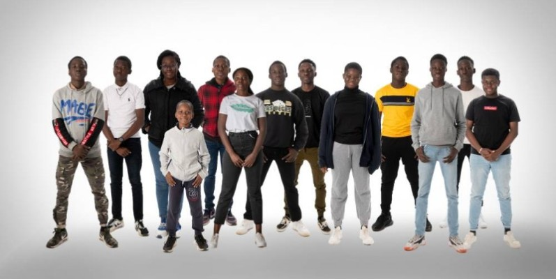 Une vue des élèves ivoiriens ayant obtenu la bourse en France. (Dr)