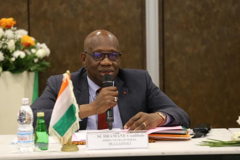 Dramane Coulibaly, directeur général de la Lonaci, lors de son allocution de clôture. (Photo : DR)
