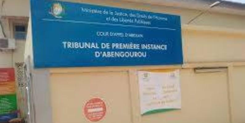 Une vue du Tribunal de première instance d'Abengourou. (Dr)