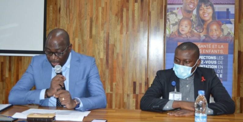 Dr Oka Kouamé (à gauche), directeur-coordonnateur du Programme national de nutrition au ministère de la Santé et de l'Hygiène publique. (DR)