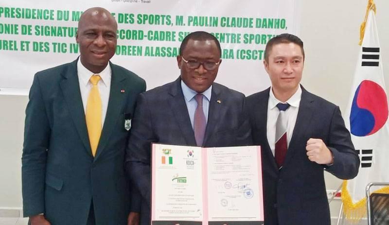 La Corée, le gouvernement et la Fédération ivoirienne de taekwondo ont donné un cadre juridique adéquat au Centre sportif. (Photos : DR)